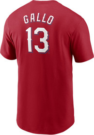 Joey Gallo Texas Rangers Nike Name And Number T-Shirt - Red