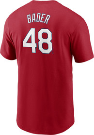 Harrison Bader St Louis Cardinals Nike Name Number T-Shirt - Red