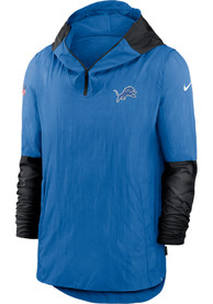 Detroit Lions Nike Pregame Plyr Pullover Jackets - Blue