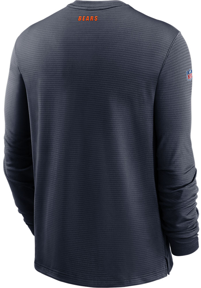 Nike Chicago Bears Mens Navy Blue TL Dri-Fit Long Sleeve Sweatshirt - Image 2