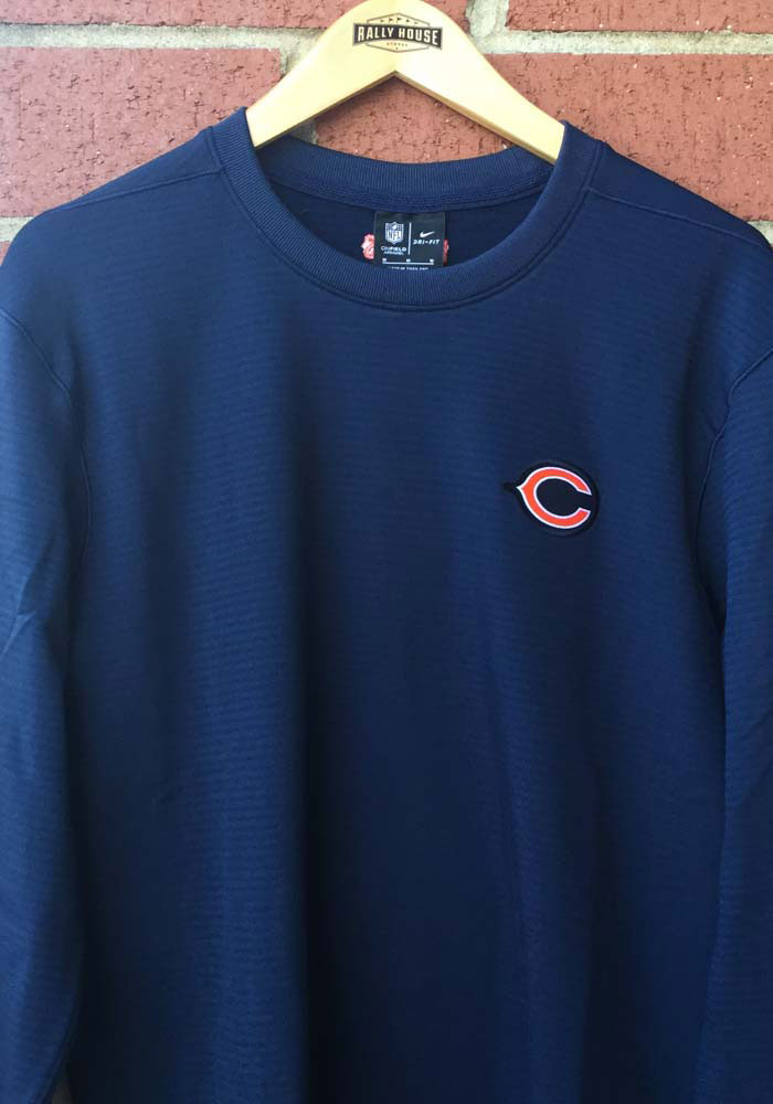Nike Chicago Bears Mens Navy Blue TL Dri-Fit Long Sleeve Sweatshirt - Image 3