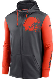 Cleveland Browns Nike Mascot Therma Zip - Charcoal