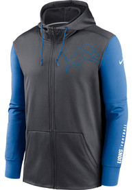 Detroit Lions Nike Mascot Therma Zip - Charcoal