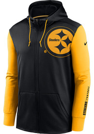 Pittsburgh Steelers Nike Mascot Therma Zip - Black