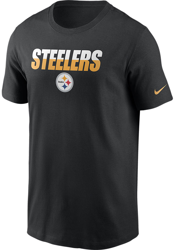 Pittsburgh Steelers Nike Split Team Name T Shirt - Black