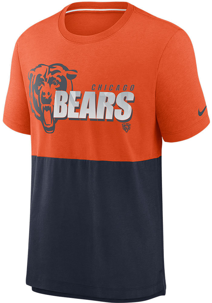 Chicago Bears Nike LN Colorblock T Shirt - Orange