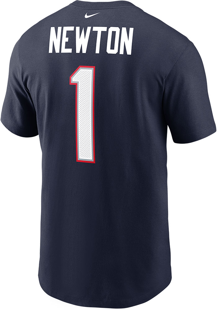 Cam Newton New England Patriots Nike Name and Number T-Shirt - Navy Blue