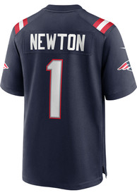 Cam Newton New England Patriots Nike Home Game Football Jersey - Navy Blue