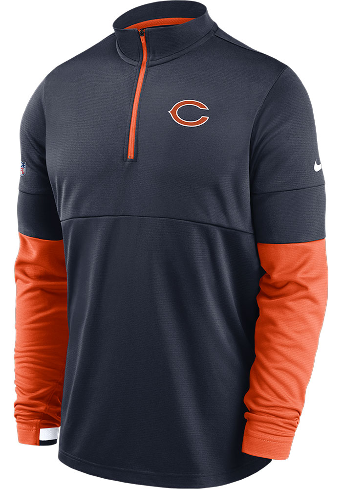 Chicago Bears Nike Therma 1/4 Zip Pullover - Navy Blue