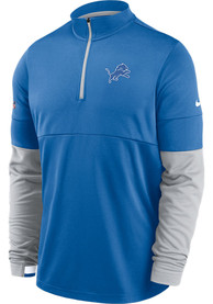 Detroit Lions Nike Therma 1/4 Zip Pullover - Blue