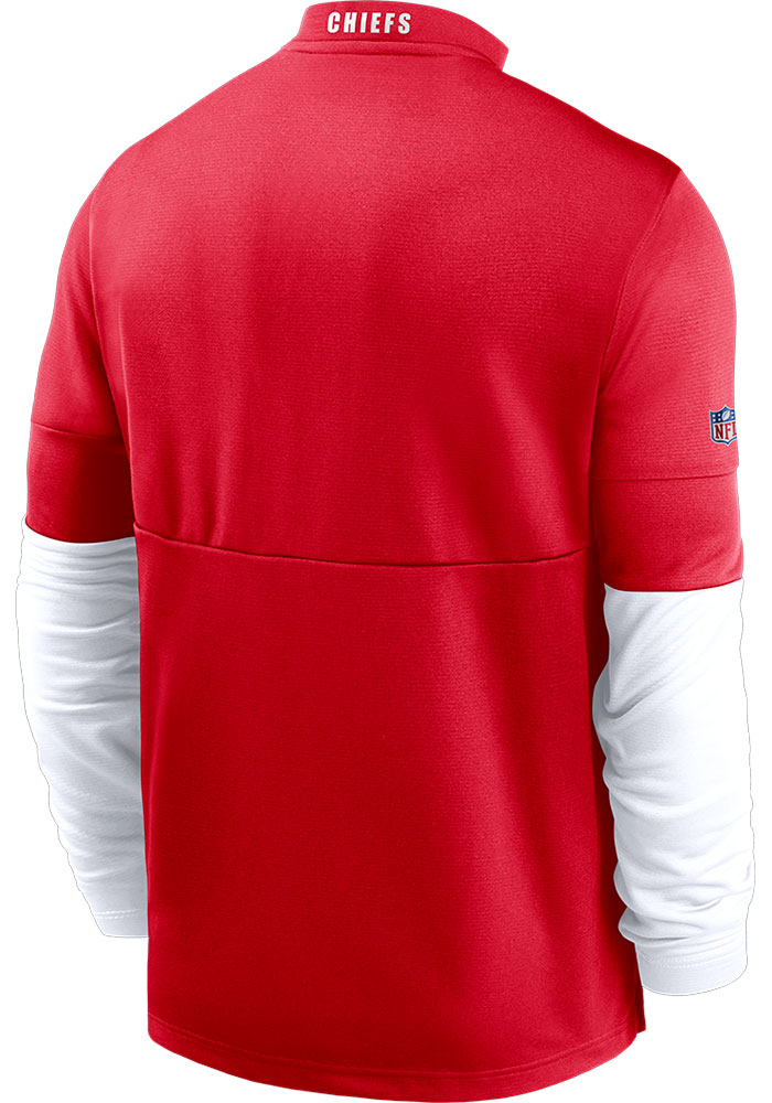 Nike Kansas City Chiefs Mens Red Therma Long Sleeve 1/4 Zip Pullover - Image 2