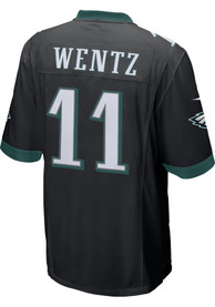Carson Wentz Philadelphia Eagles Nike Alternate Game Football Jersey - Black