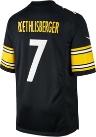 Ben Roethlisberger Pittsburgh Steelers Nike Home Game Football Jersey - Black