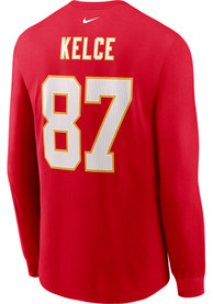 Travis Kelce Kansas City Chiefs Red Primetime Long Sleeve Player T Shirt