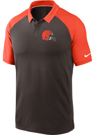 Cleveland Browns Nike Raglan Polo Shirt - Brown