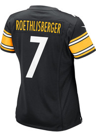 Ben Roethlisberger Pittsburgh Steelers Womens Nike Home Game Football Jersey - Black