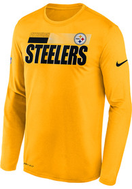 Pittsburgh Steelers Nike Sideline Logo Legend T-Shirt - Gold