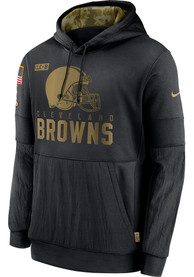 Cleveland Browns Nike Salute To Service Therma Hood - Black