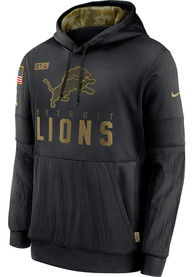 Detroit Lions Nike Salute To Service Therma Hood - Black