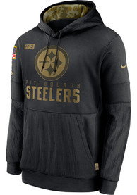 Pittsburgh Steelers Nike Salute To Service Therma Hood - Black