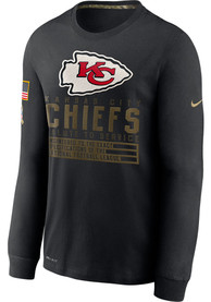 Kansas City Chiefs Nike Salute To Service Dry Fit Cotton T-Shirt - Black