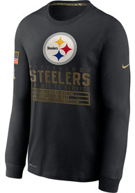 Pittsburgh Steelers Nike Salute To Service Dry Fit Cotton T-Shirt - Black