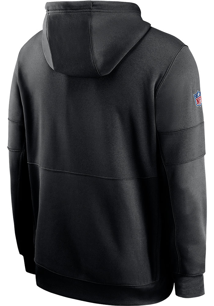Nike Kansas City Chiefs Mens Black 2020 Crucial Catch Therma Hood - Image 2