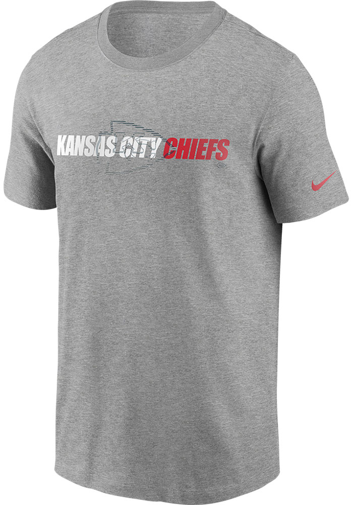 Nike Kansas City Chiefs Grey Tonal Logo Short Sleeve T Shirt - Image 1