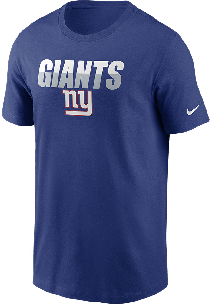 New York Giants Nike Split Team Name T Shirt - Blue