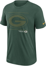 Green Bay Packers Nike DFCT Team Issue T Shirt - Green