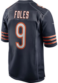 Nick Foles Chicago Bears Nike Home Game Football Jersey - Navy Blue