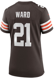 Denzel Ward Cleveland Browns Womens Nike Home Game Football Jersey - Brown