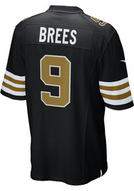 Drew Brees New Orleans Saints Nike Alternate Game Football Jersey - Black