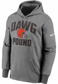 Cleveland Browns Nike Therma Hood - Grey