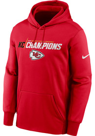 Kansas City Chiefs Nike 2020 Conference Champions Iconic Hood - Red