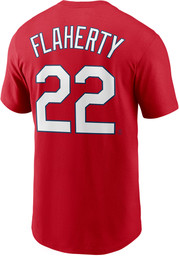 Jack Flaherty St Louis Cardinals Nike Name And Number T-Shirt - Red