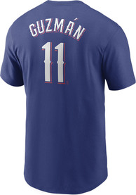 Texas Rangers Nike Name And Number Player T Shirt - Blue