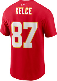 Travis Kelce Kansas City Chiefs Nike Super Bowl LV Name and Number T-Shirt - Red