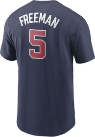 Atlanta Braves Nike Name And Number Player T Shirt - Navy Blue