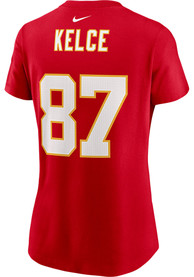 Travis Kelce Kansas City Chiefs Womens Nike Super Bowl LV Name and Number T-Shirt - Red