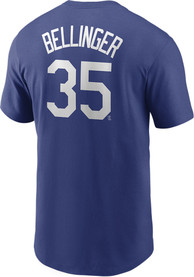 Los Angeles Dodgers Nike Name And Number Player T Shirt - Blue