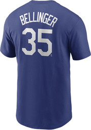 Los Angeles Dodgers Blue Nike Name And Number Short Sleeve Player T Shirt