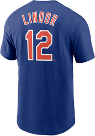 Francisco Lindor New York Mets Nike Name And Number T-Shirt - Blue