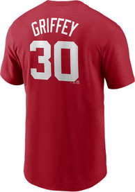Ken Griffey Jr. Cincinnati Reds Nike Name And Number T-Shirt - Red
