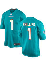 Jaelan Phillips Miami Dolphins Nike Home Game Football Jersey - Teal