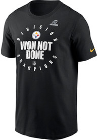 Pittsburgh Steelers Nike 2020 AFC North Division Champs Locker Room T Shirt - Black