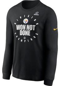 Pittsburgh Steelers Nike 2020 AFC North Division Champs T Shirt - Black