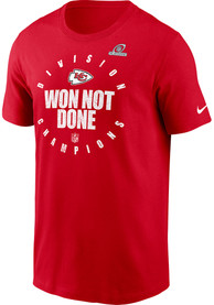 Kansas City Chiefs Nike 2020 Division Champs T Shirt - Red