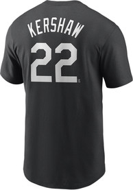 Clayton Kershaw Los Angeles Dodgers Nike Name And Number T-Shirt - Black