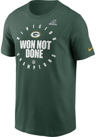 Green Bay Packers Nike 2020 Division Champs T Shirt - Green